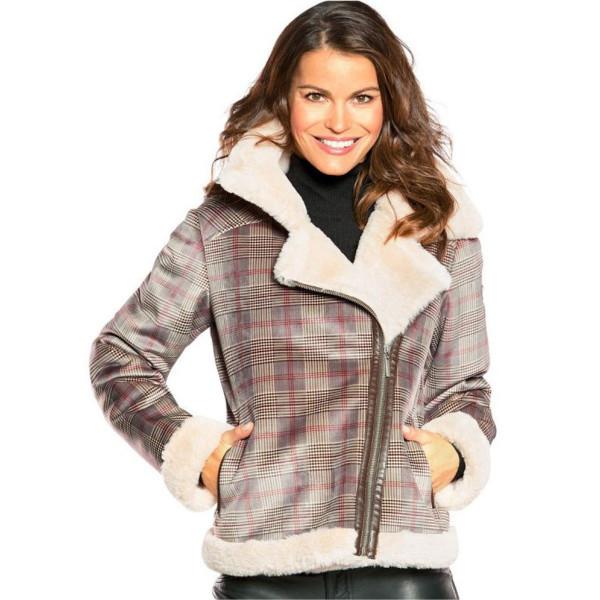 Dámská bunda Frieda&Freddies Fake Fur Jacket 7719