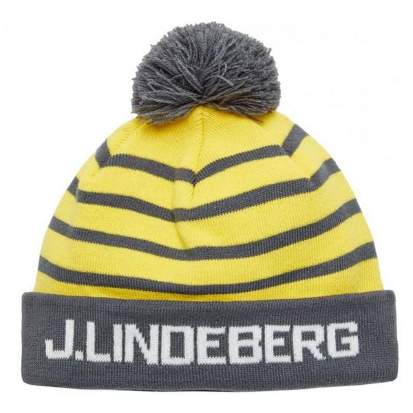 Pánská čepice J.Lindeberg Stripe Ball Beanie