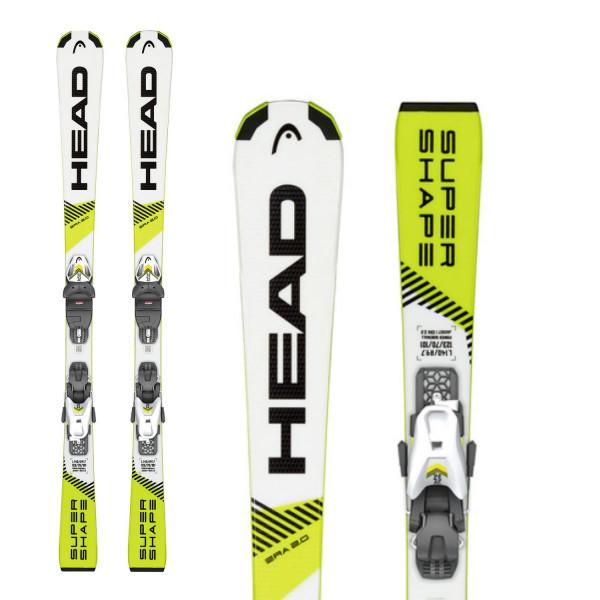 Dětské sjezdové lyže Head Supershape SLR + SLR 7.5 AC