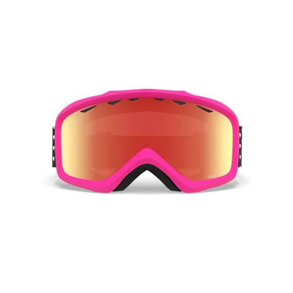 Dívčí lyžařské brýle Giro Grade Hearts Amber Scarlet