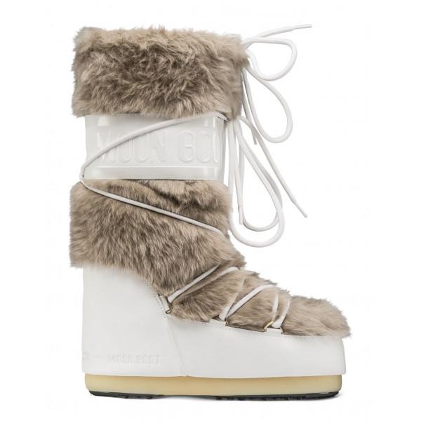 Dámské sněhule MoonBoot Classic Faux Fur