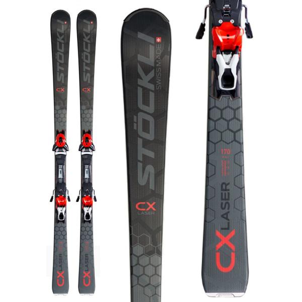 Sjezdové lyže Stöckli LASER CX + MC FREEFLEX + MC 12 RED