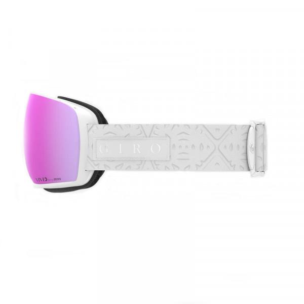 Dámské  lyžařské brýle Giro LUSI WHITE FLAKE VIVID PINK/INFRARED