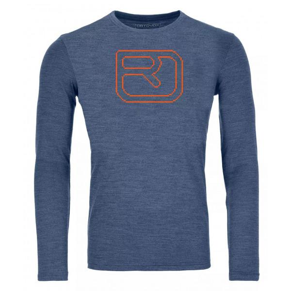 Pánské funkční tričko Ortovox 185 Merino Pixel Logo LS