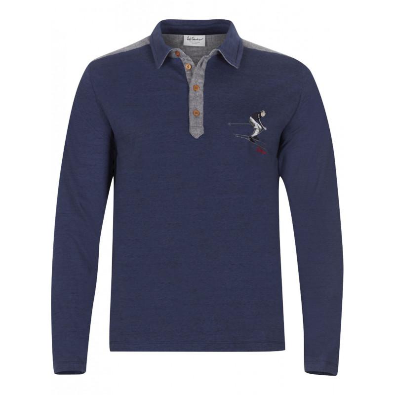 Pánské tričko LuisTrenker BALDOMAR  - tmavě modrá